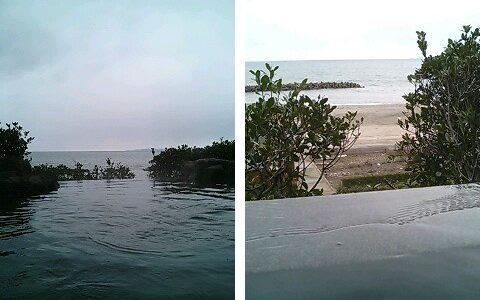 瀬波温泉大観荘せなみの湯 日本海を一望できる広い露天風呂が魅力
