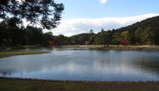毛越寺 浄土式庭園とそれを囲むのはほぼ史跡の世界遺産