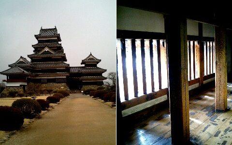 国宝松本城 城内の急階段に気をつけて!
