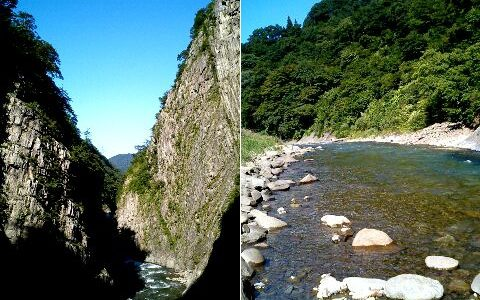 清津峡 日本三大峡谷の一つ