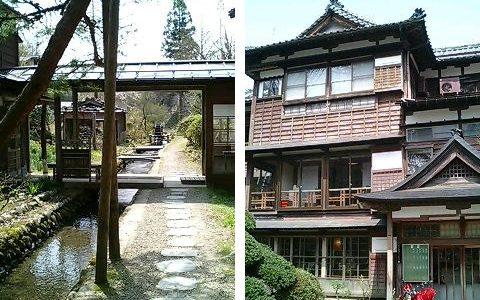 越後長野温泉嵐渓荘 桜の咲く季節の水芭蕉も綺麗でした