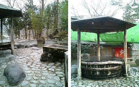 猿ヶ京温泉湖城閣 たくさんの混浴露天風呂を楽しむ