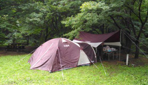 弥彦城山森林公園キャンプ場「雨に降られそして工事現場と化す!」の巻