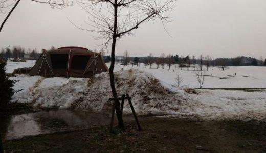 スノーピークHQにてなんちゃって雪中キャンプ!