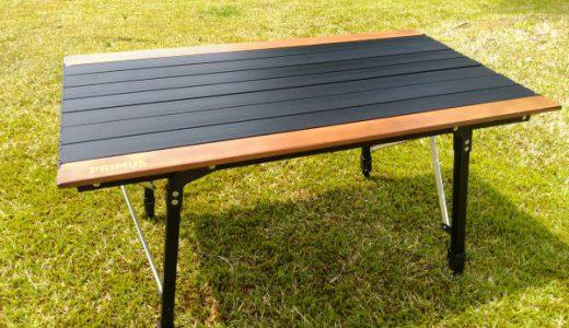 プリムスアジャスタブルテーブル どんな場所でもグラグラしない安定感は素晴らしい♪