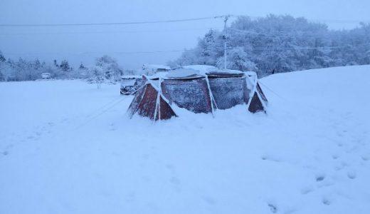 ランドロックが雪に埋もれた日「雪中キャンプの楽しさ素晴らしさを肌で感じた」
