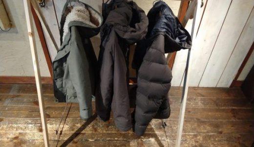 テント内の服の置き場に困ってませんか?「自作ハンガースタンドが解決します」