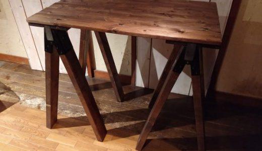 ソーホースブラケットを使った自作キャンプテーブルの高さの計算方法について