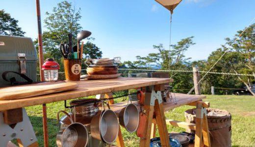 ツーバイツーのソーホースブラケットでキャンプ用キッチンテーブルを作ってみよう!