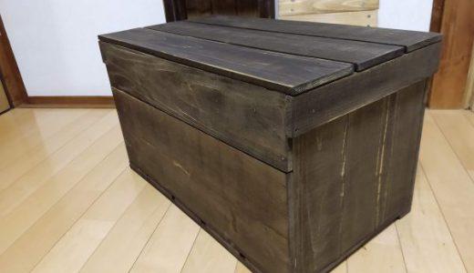 キャンプギア収納ボックスを杉野地板1,100円で自作「安くても頑丈です♪」