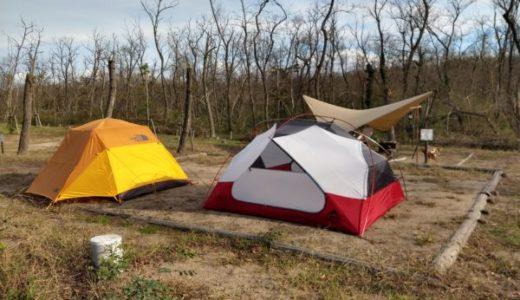 海辺の森キャンプ場「テントサイト小の区画を連続利用して感じたこと」